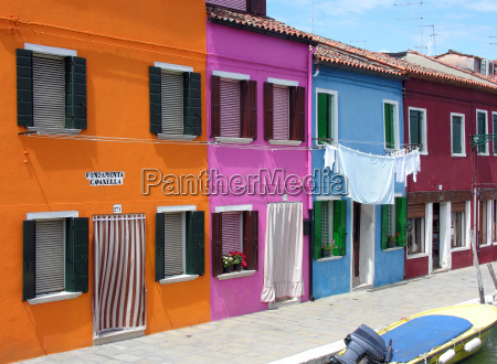 colourful facades in burano