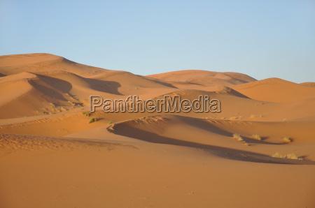 las dunas de arena en el