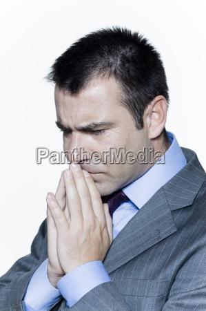 retrato hombre de negocios preocupacion preocupado