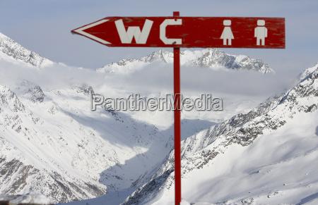 montanhas inverno olhar vista wc loo