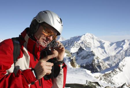 telefone movel gerir inquieto montanha celular