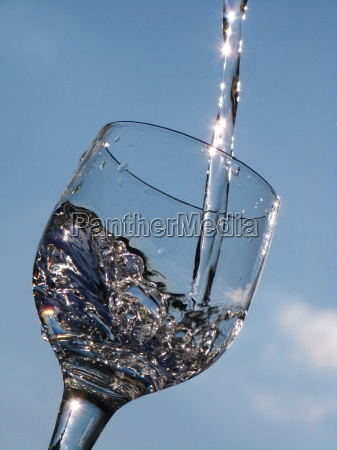 azul movimiento en movimiento vidrio vaso