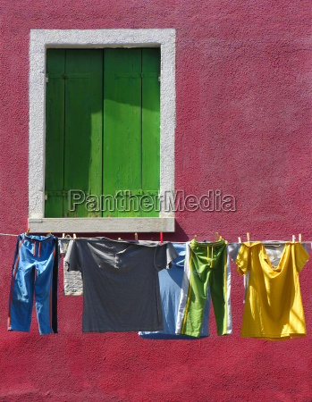 clothesline in burano