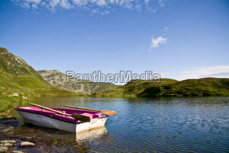 old rowboat on lower wildalmsee