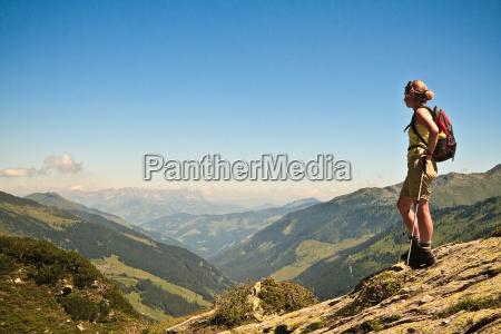 view over the kitzbuehel alps