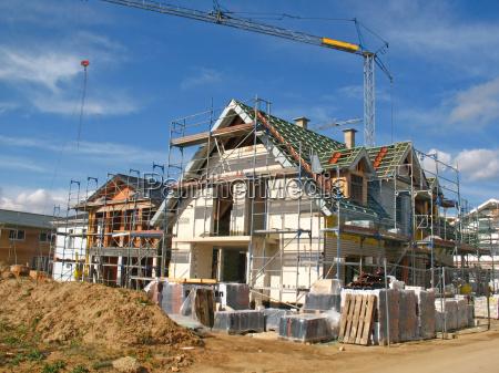la construccion de edificios