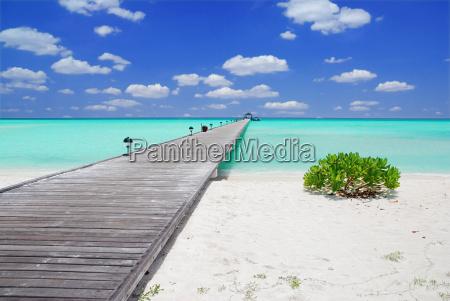 embarcadero en las maldivas