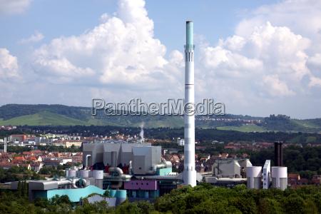 industria planta industrial calor chimeneas gasa