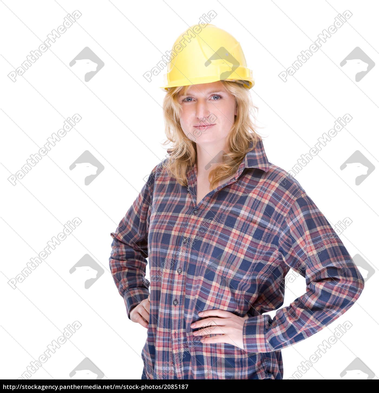 Bauarbeiterin Foto De Archivo 2085187 Agencia De Stock
