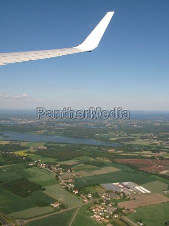 horizonte fiesta vacaciones vuelo ventana ala