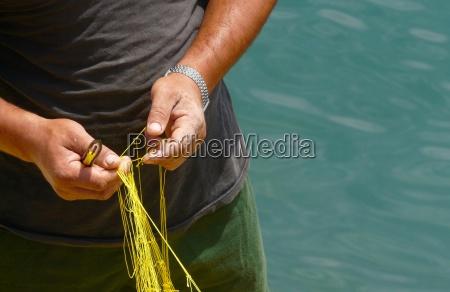 pescadores en el trabajo