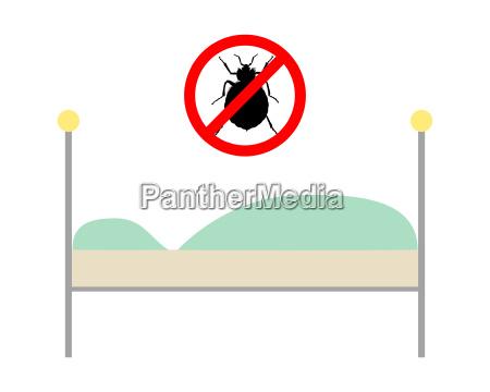 signo de prohibicion de chinches sobre