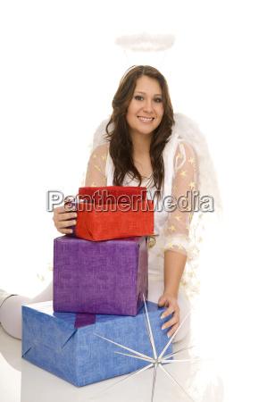 engel, mit, geschenk - 2362295