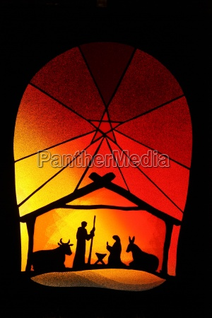 linterna de navidad cuna