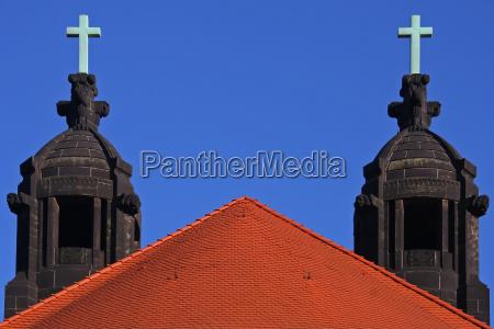 iglesia cruz dresde campanario estilo de