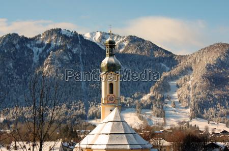 invierno turismo pueblo montanya