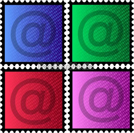 marcas con signo de correo y