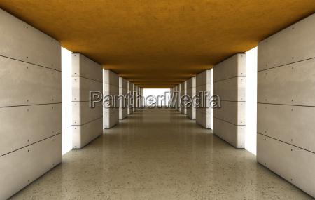 concrete architecture with color