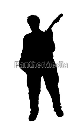 silhouette of guitar player