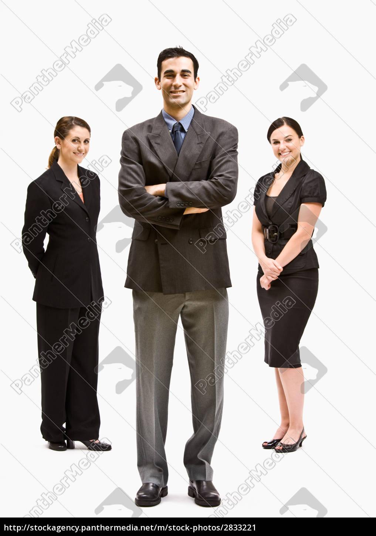 gente, de, negocios, sonriendo - 2833221