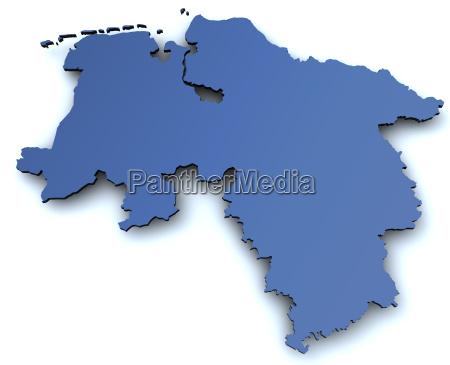 mapa en baja sajonia