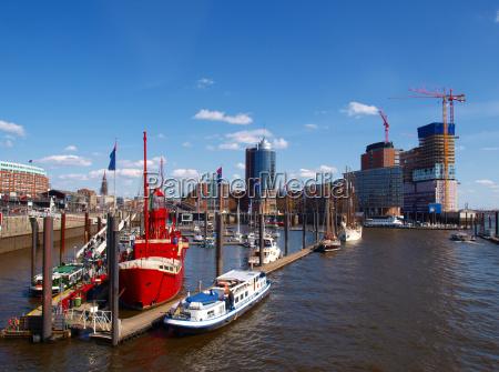 puerto hamburgo puertos elba velero barco