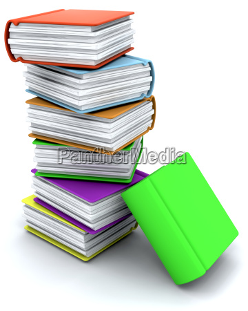3d charicature render of a stack