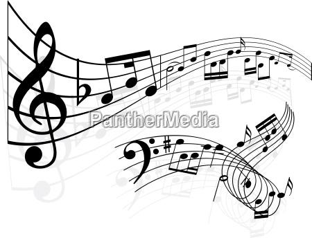 notas de la musica de fondo