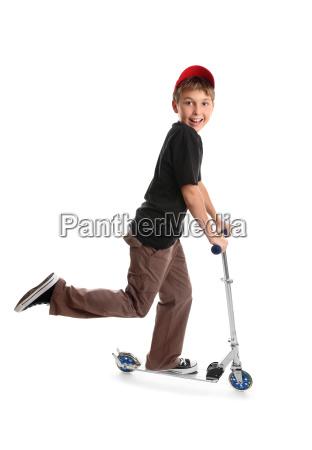ocio juego juega paseo scooter monto