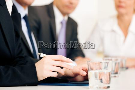 equipo en la reunion