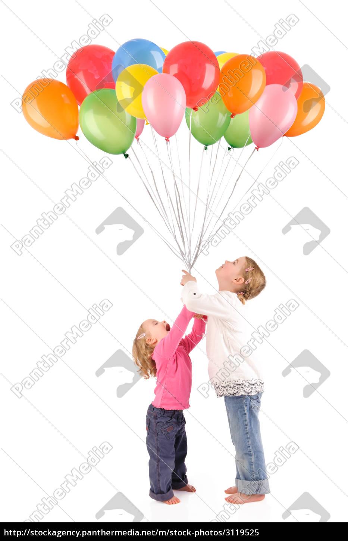 niños, con, globos - 3119525