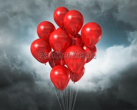 nublado globo cadena hilo globos balon