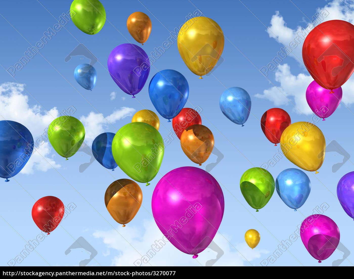 globos, de, colores, en, un, cielo - 3270077