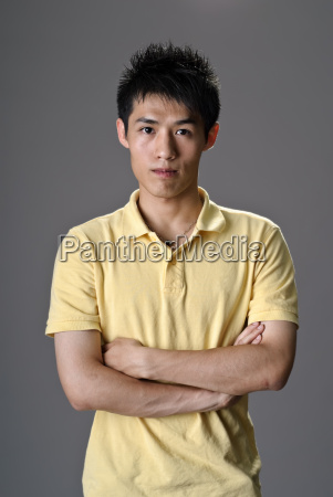 portrait of young man of asian
