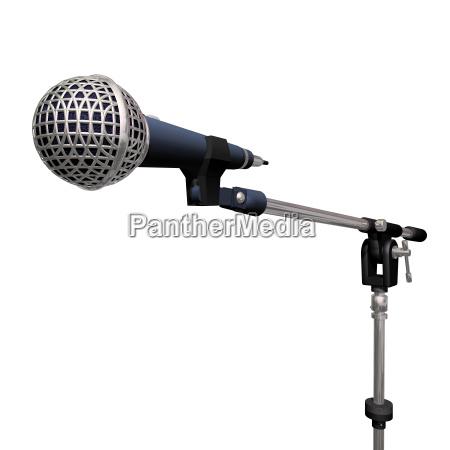 sonido liberado aislado microfono nadie fondo