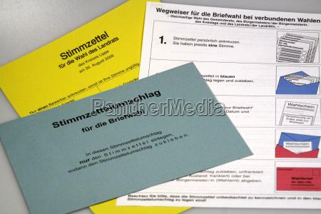 documentos voto por correo