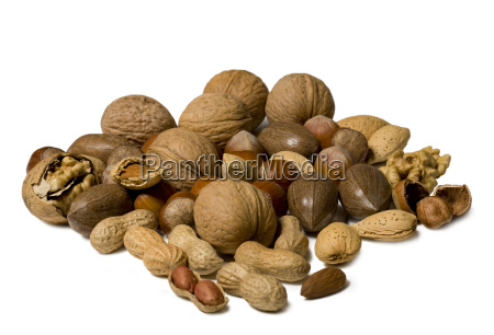 nuts isolated on white background