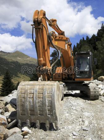 excavator road construction