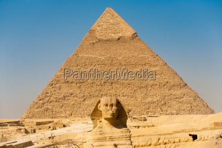 esfinge giza pyramid khafre center