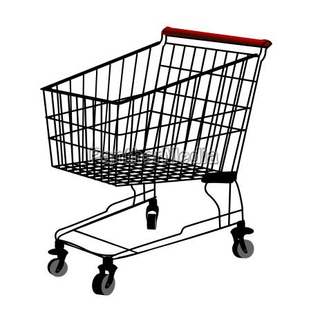 silueta de carrito de compras