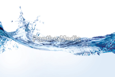 salpicaduras de agua aislado en blanco