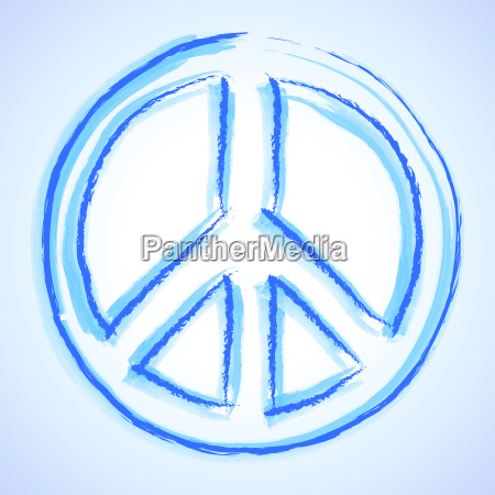 acuarela signo de la paz