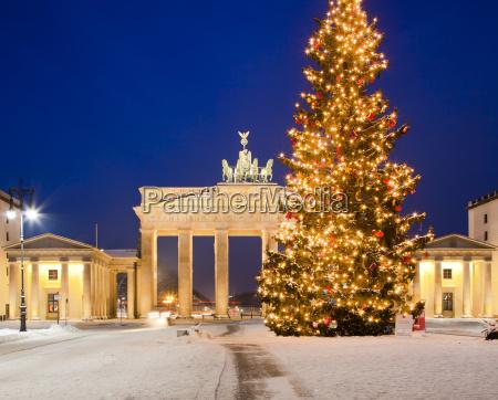 invierno puerta gantry berlin capital arbol