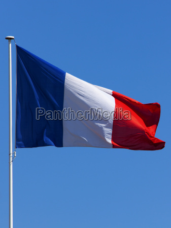 francia bandera mastil tricolor