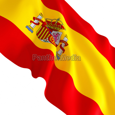 spanish flag on white