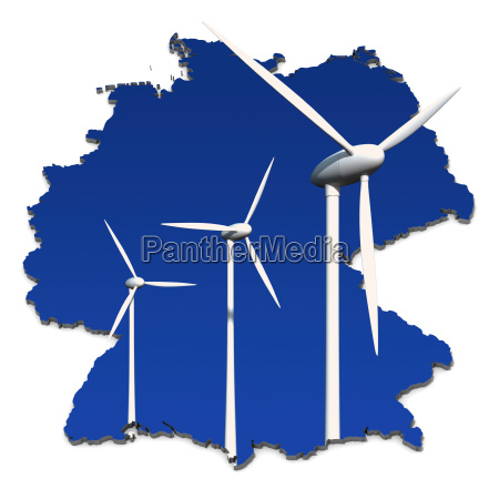 rueda de la energia eolica delante