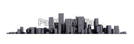 wide cityscape modelo 3d brillante