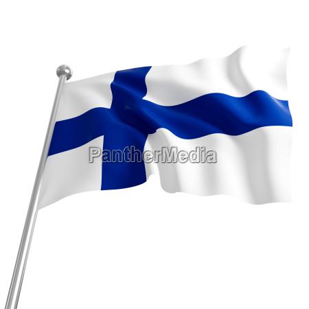 3d flag of finland on white