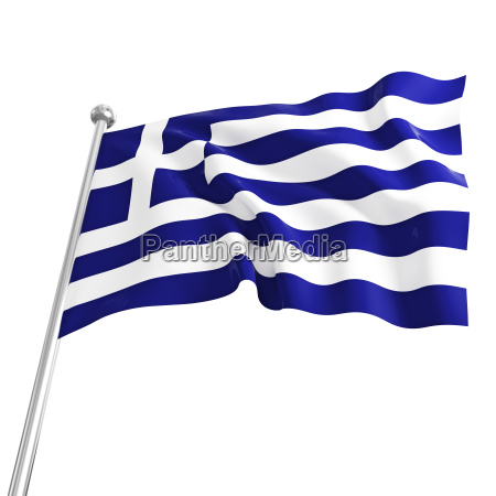 3d model of greek flag on