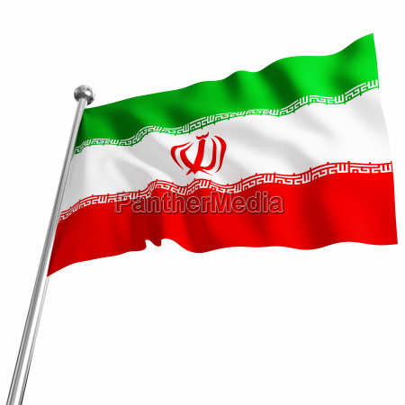 image of iran 3d flag on